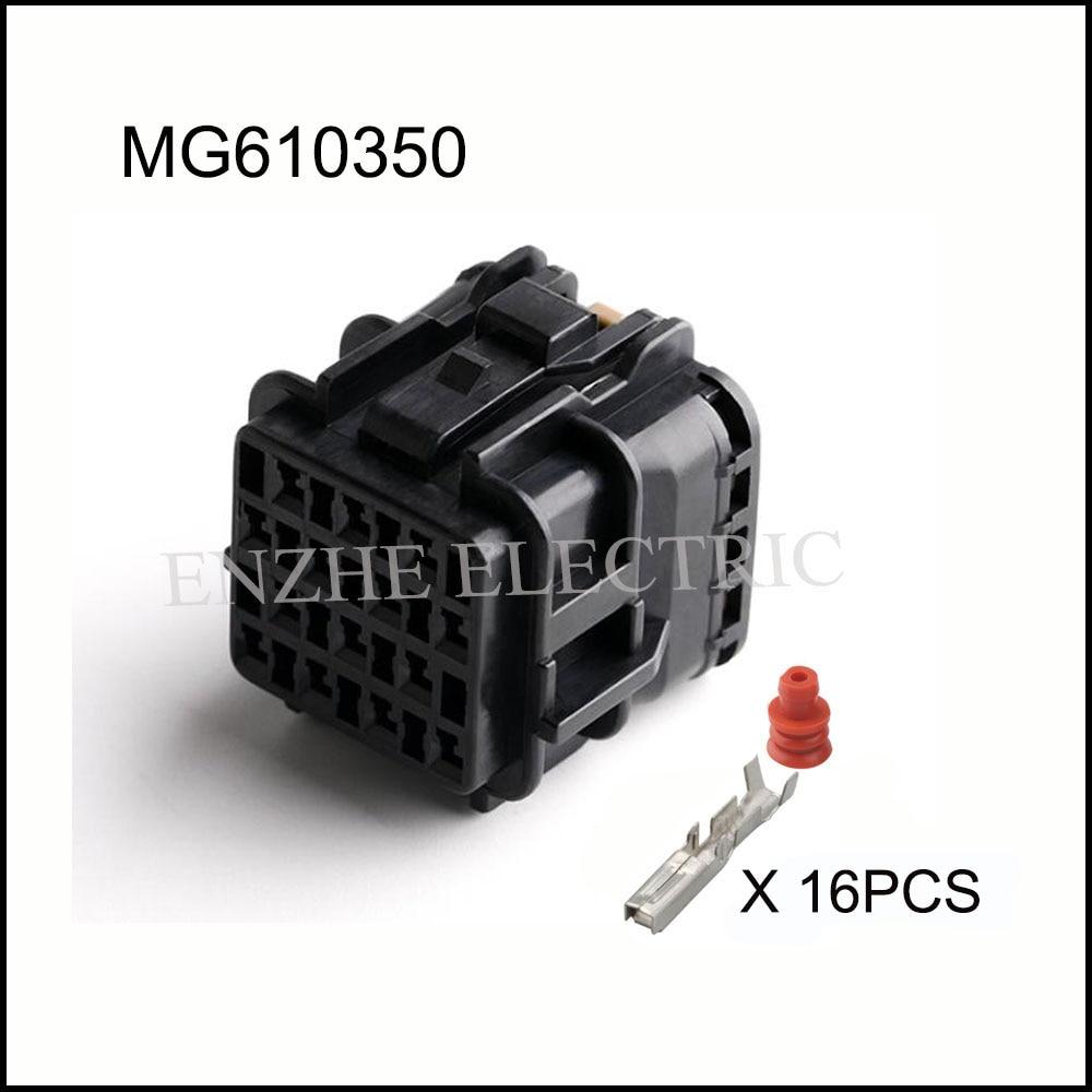 MG610350/MG640352 سلك السيارة موصل سالب هارنز كابل 16 دبوس السيارات مقاوم للماء المكونات تشمل محطات الختم 7222-7544-40