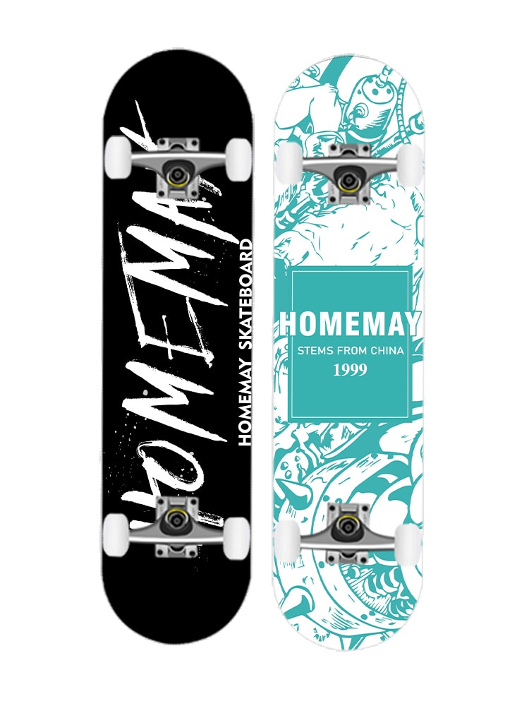 4 Wheel Beginner Professional Maple Skateboard Longboard Land Surfboard Skateboard wheels Deskorolka Sports Equipment BI50SB