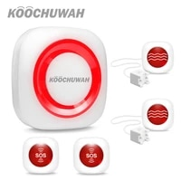 KOOCHUWAH systeme dalarme GSM   Alarme de securite pour la maison  Flash sonore  SMS  alarme sans fil pour la maison  Kit dalarme de haute qualite  SIM