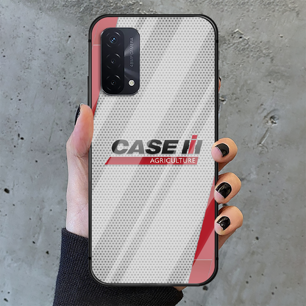 CASE IH Tractor Logo Phone Tempered Glass Case Cover For oppo realme find a x c xt gt 2 53 3 6 7 50 11 i Pro 4g 5g Phone case  - buy with discount