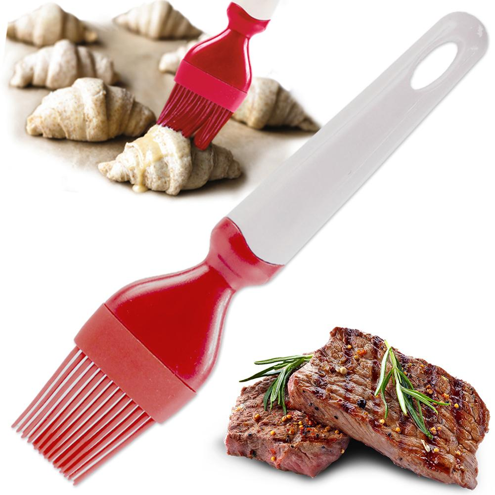 Silicona BBQ salsa aceite cepillo torta mantequilla pastelería DIY cocinar hornear herramienta...