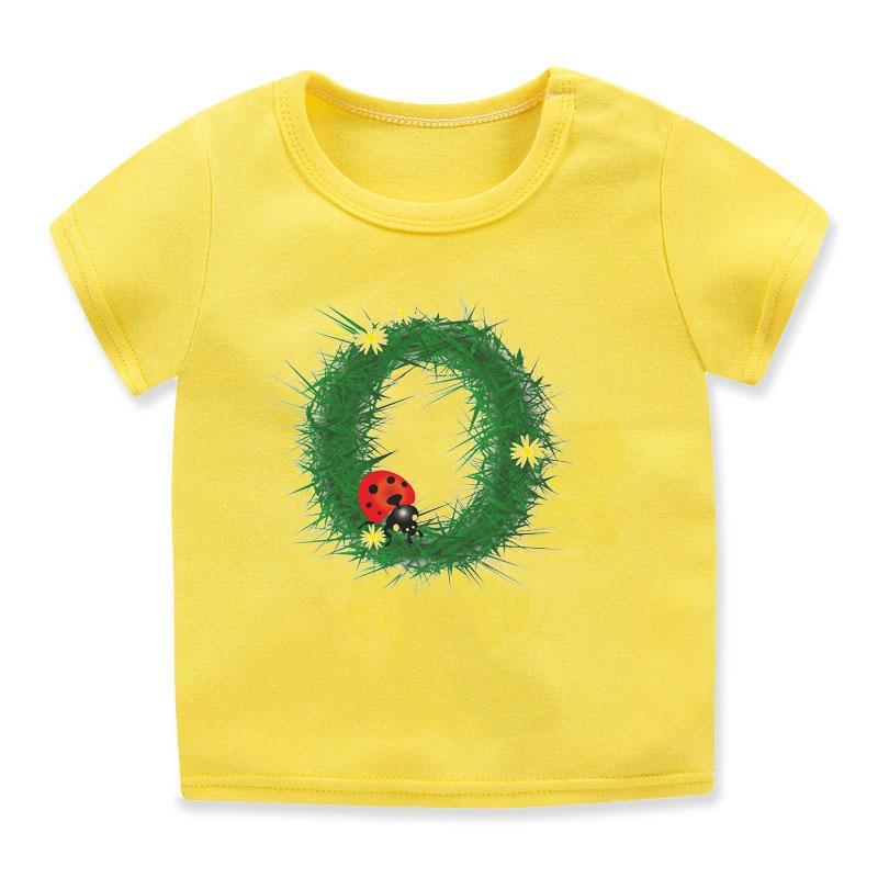 Ropa kawaii para niños pequeños, camiseta divertida con estampado de escarabajo del...