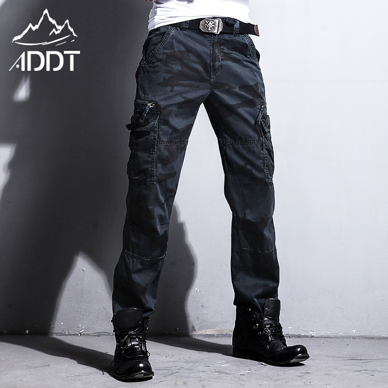 Production European American Army Pants Jeans Camouflage Pants Men's Trousers Many Pockets Male Forces Tactical Military Style