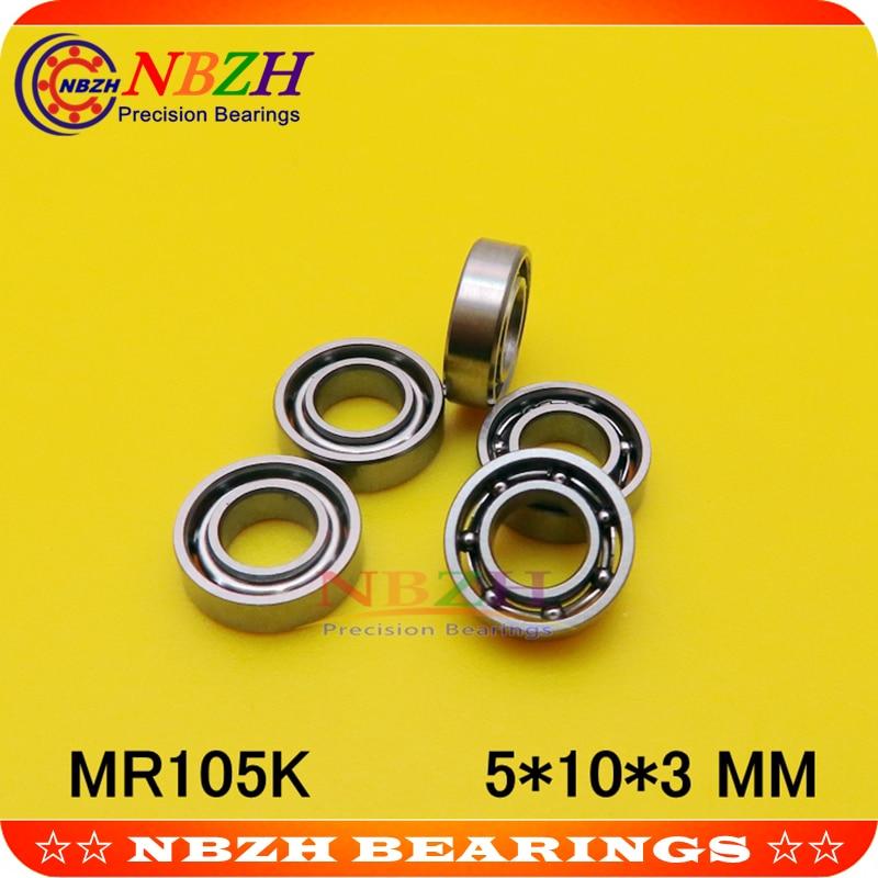 Rodamiento en miniatura MR105 L-1050 OPEN MR105W3ZZ MR105ZZW3 5*10*3 MM para Rc hobby e industria SMR105 MR105K SUS440C