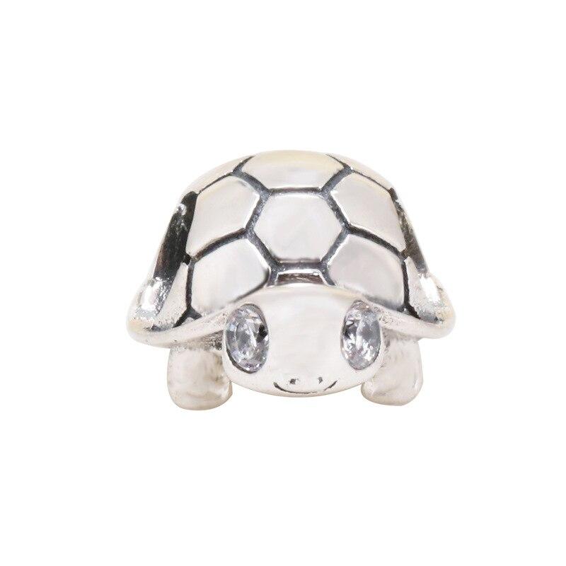 Charms de tortuga de ojos brillantes para mujer, Plata de Ley 925...