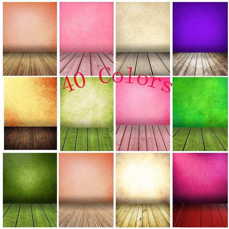 Винтаж градиент сплошной Цвет задники для фотосъемки кирпичная стена деревянный пол детского портрета фото Фоны 210125MB-22