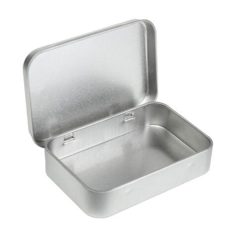 الجملة 200 قطعة مجموعة الحبال القصدير الصغيرة فارغة معدن القصدير الفضة الذهب صندوق تخزين الوجه المنظم للمال عملة مفتاح الحلوى