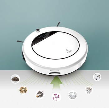 2021New 1200Pa Smart Robot Vacuum Cleaner Multifunctional Dry Wet Floor Mop Cleaner Rechargeable Sweeping Robot Cleaning Machine