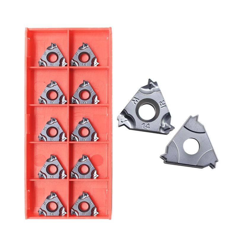 10pcs Thread 16IR 14W 60 Angle Thread Turning Tool Tungsten Carbide Insert Threading Lathe 16IRM 14W