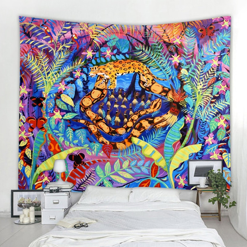 Fairy tale world Tapestry Wall Hanging Witchcraft Wall Tapestry Hippie Wall Carpets Dorm Decor Psychedelic Tapestry psychedelic brick dorm decor wall hanging tapestry