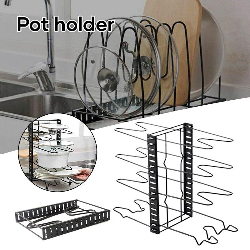 صينية منظم قابل للتعديل أدوات مطبخ تخزين الرف تنظيم الرف قطع المجلس DTT88