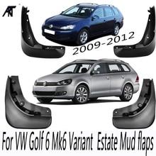 Garde-boue de protection pour VW Jetta Sportwagen   Golf 6 Mk6, break, 2009-2012, bavettes, garde-boue avant et arrière