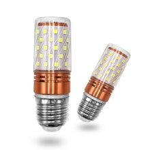 Lámpara LED E27 E14 de 6 W, bombilla LED SMD2835, 110 V, 220 V, Bombilla de mazorca, lámpara de vela, luz LED para decoración del hogar, ampolla