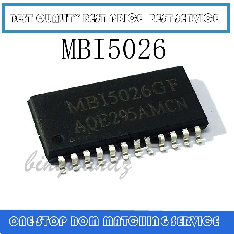 30PCS-100PCS  MBI5026 MBI5026GF SOP-24 NEW