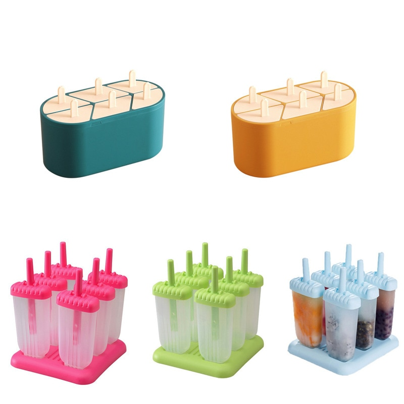 Popsicle Molds With Lid Ice Cream Mold Silicone DIY Homemade Ice Lolly Mold Ice Cream Popsicle Ice Pop Maker Mould Kitchen Tools недорого