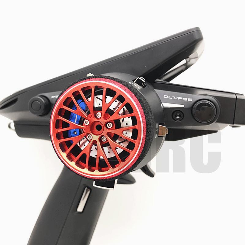 AJRC black red metal remote control handwheel for FUTABA RZ-D FUTABA 4PL S 4PX R 3PV 4PV 7PX 4PK 4PKS R KO-EX1 remote control enlarge