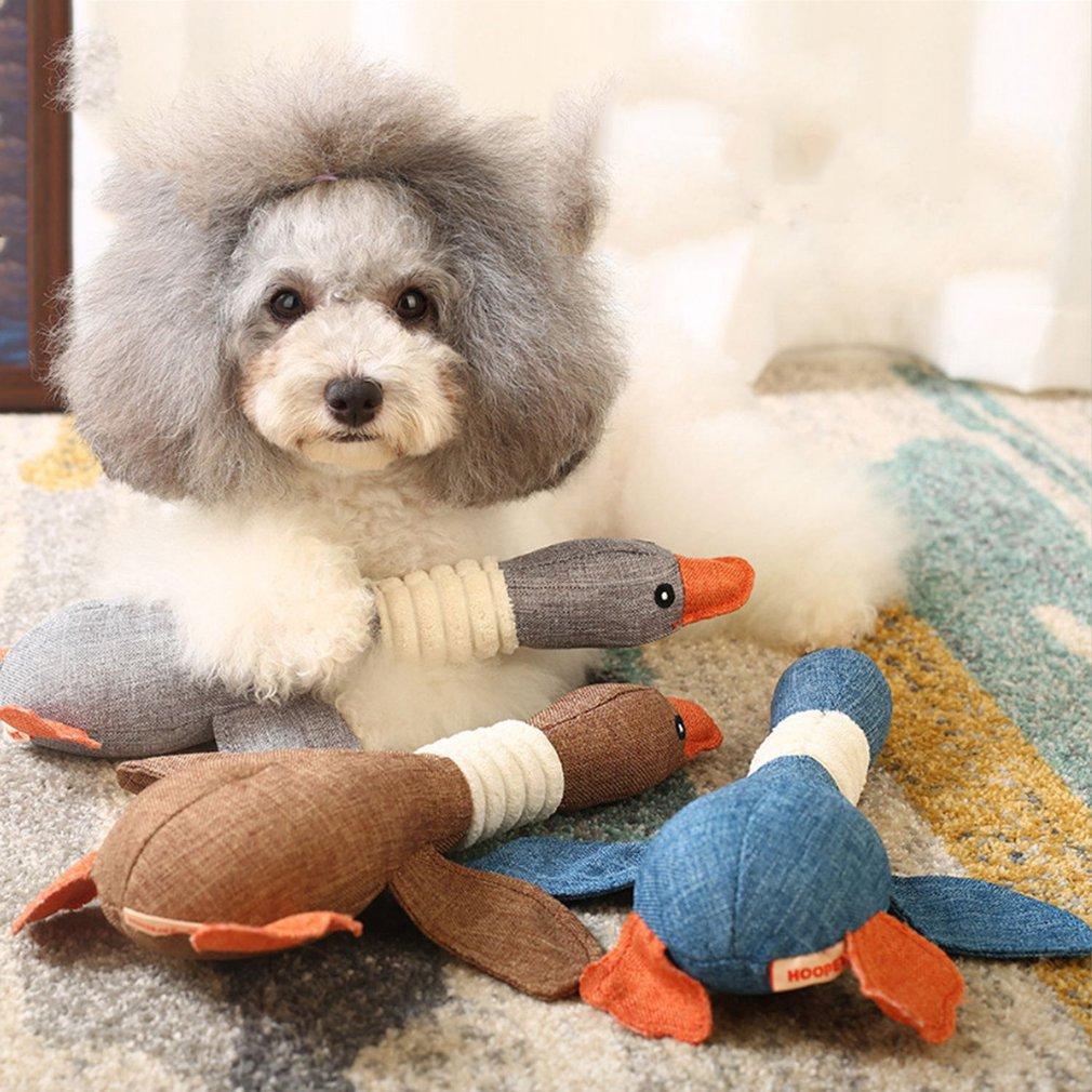 Дикие гусиные игрушки, собаки, игрушки, питомцы, звуковые игрушки, плюшевые игрушки, тренировочные питомцы, обучающие игрушки