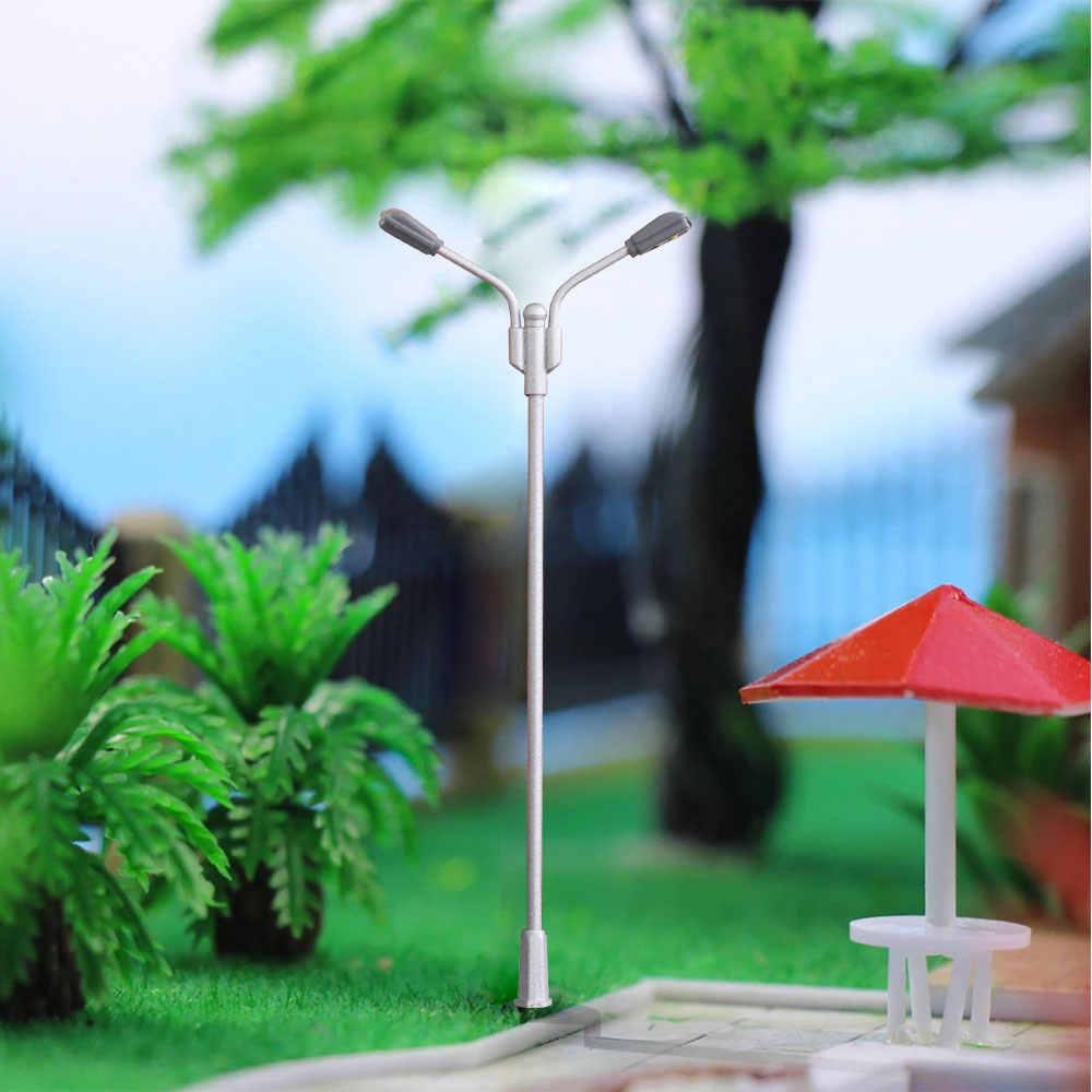 Ho N Skala Modell Zug Eisenbahn Straße 3v Led Laternenpfahl Für Bau Landschaft Modell Der Materialien Layout Model Building Kits Aliexpress