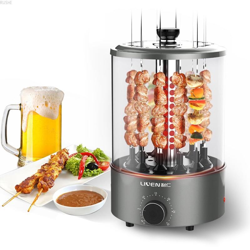 Horno eléctrico de barbacoa para el hogar, Kebab de cordero, máquina de Kebab automática giratoria para interiores, pequeña Parrilla de barbacoa sin humo