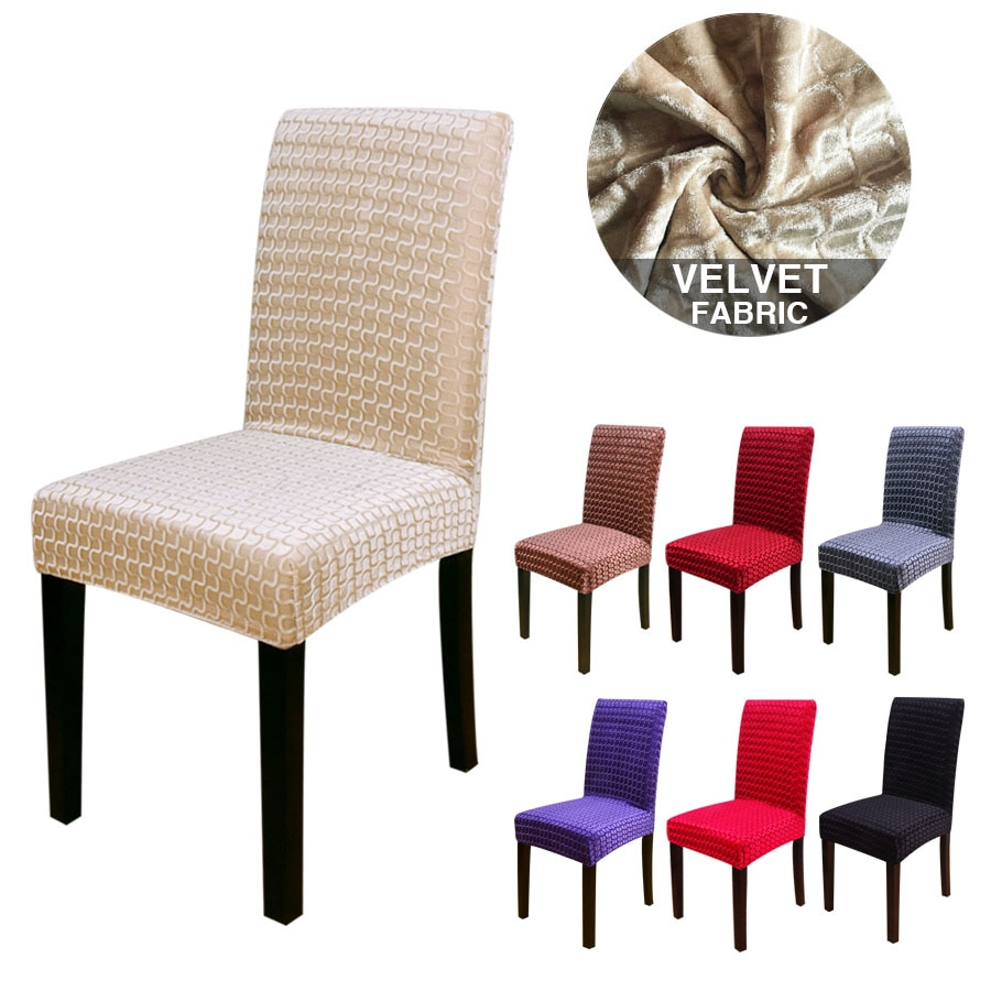 Фото - 1/2/4/6 Pcs Dining Chair Cover Spandex Elastic Chair Slipcover Case Stretch Chair Cover for Wedding Hotel Banquet straight stretchable chair cover 4 pcs black