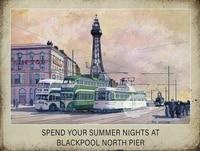 summer nights at the north pier tin sign art wall decorationvintage aluminum retro metal sign