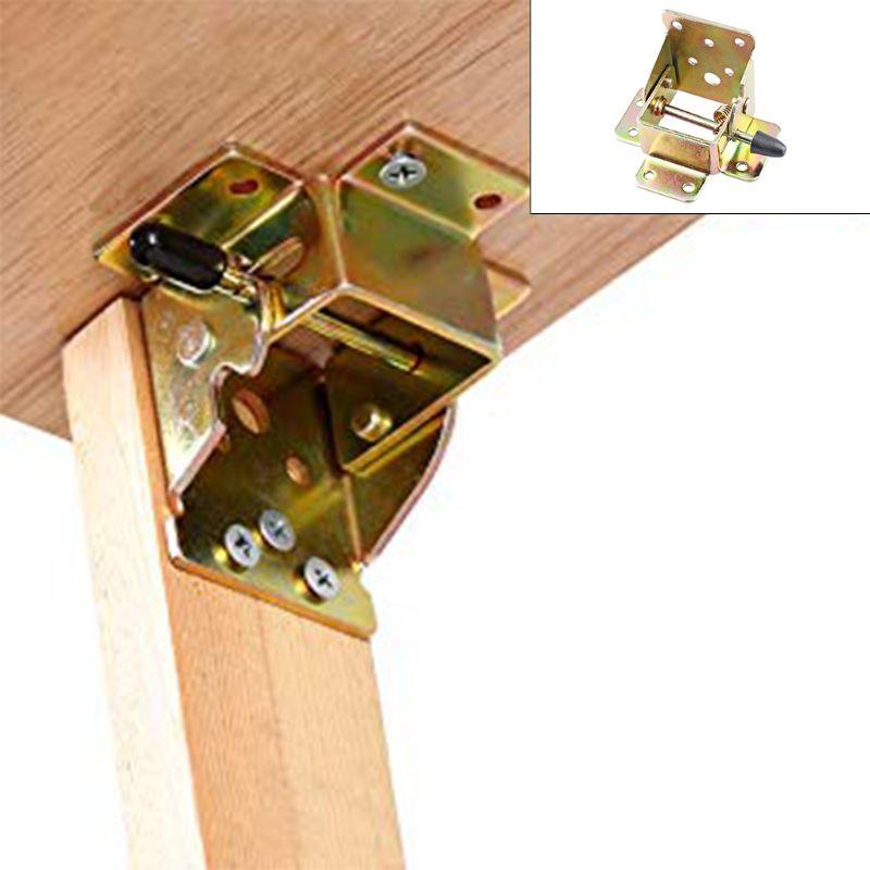 4X الحديد قفل طاولة قابلة للطي كرسي الساق بين قوسين المفصلي الذاتي قفل مفصلات قابلة للطي