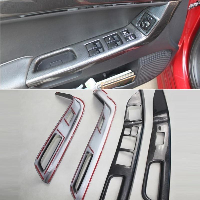 Para Mitsubishi Lancer EX 2010-2016 conducción a mano izquierda 4 Uds ABS puerta Interior del coche ventana elevador de vidrio para cubierta de botones interruptores embellecedores