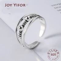 women unique adjustable opening 925 sterling silver finger ring retro 3layers carved toe ring beach foot jewelry