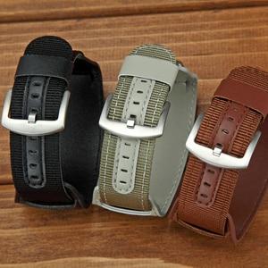 18/20/22/24mm Leather Metal Buckle Watchband Universal Trendy Elegant Adjustable Wrist Strap Belt Bracelet