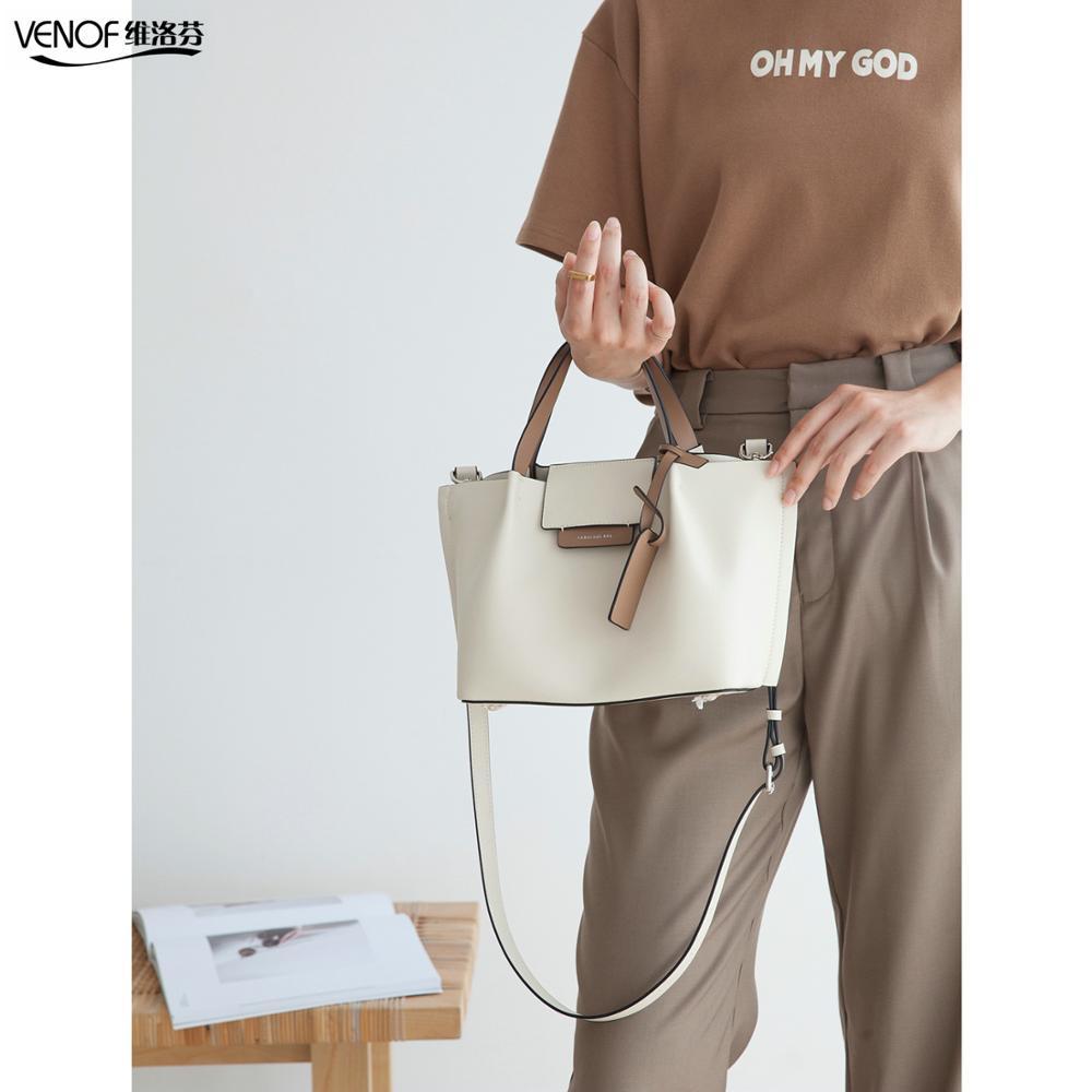 VENOF, bolsos de mano de cuero vacuno para mujer, bolsos de mano, bolsos compuestos, bandolera de cuero de marca, bolsos de trabajo de oficina, bolsos cruzados para mujer