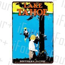 Placa de Metal de la tetera del lago, placa de lata, placa de Metal de la decoración de la vendimia del Metal carteles