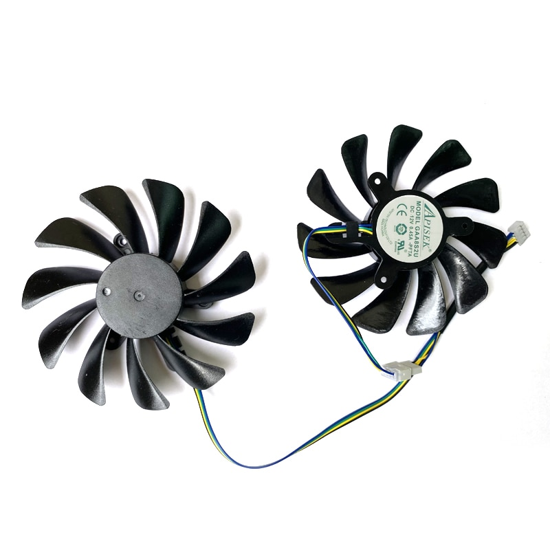 NEW DIY 95MM 4PIN GAA8S2U RX5700 XT GPU VGA PC Fan For Powercolor dataland RX5700 XT 8G X AMD RX5500 XT 8G Video Cards Cooling enlarge