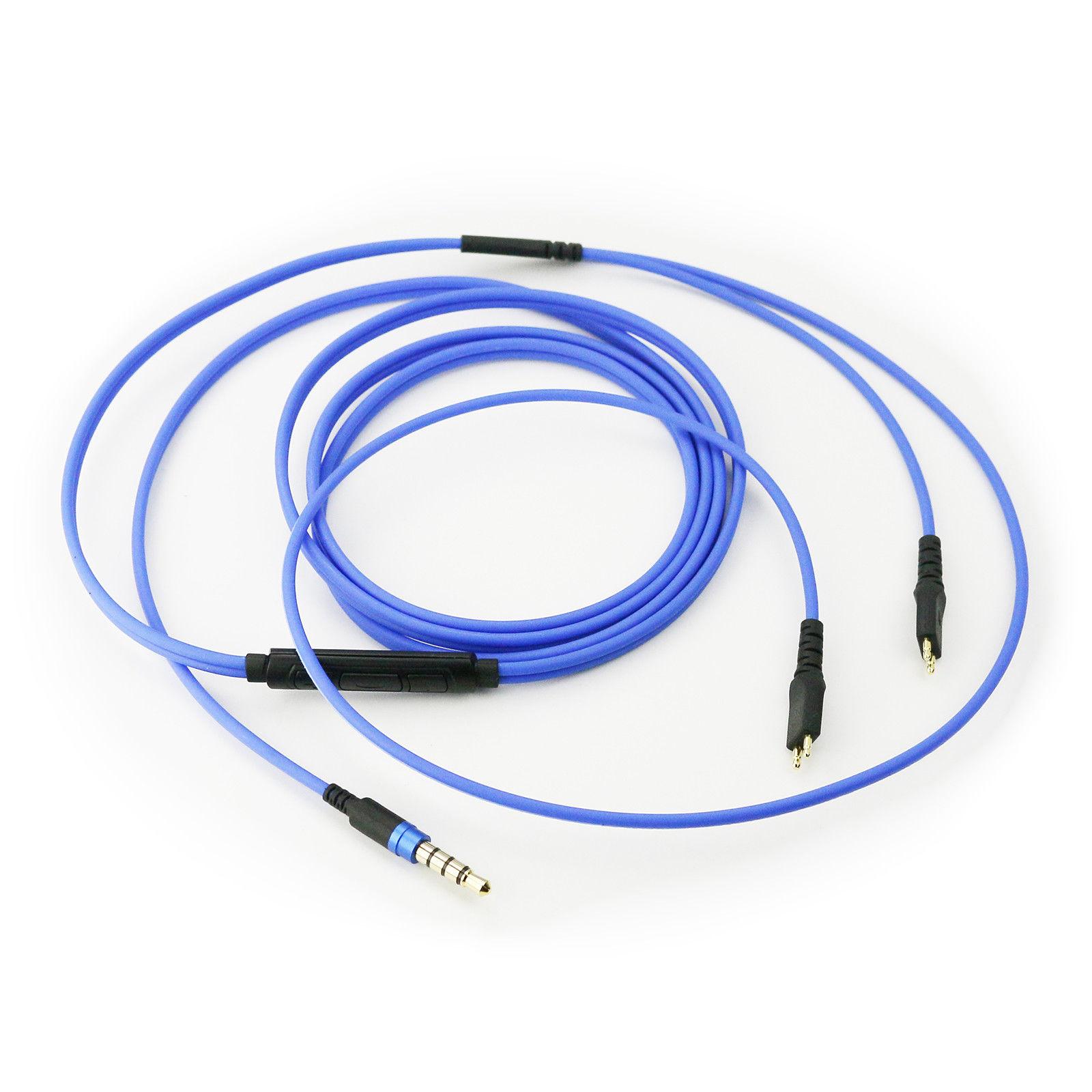 Cable de auriculares con micrófono Cable de volumen remoto para Sennheiser HD25 HD650 HD600 HD580 HD525 HD565 auriculares