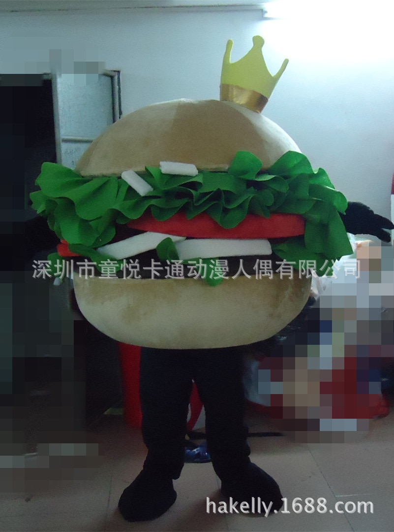 زي تنكري للبالغين على شكل همبرغر ، شخصية كرتونية ، للخبز ، تمويه الطعام ، ورقة ، كرنفال ، همبرغر