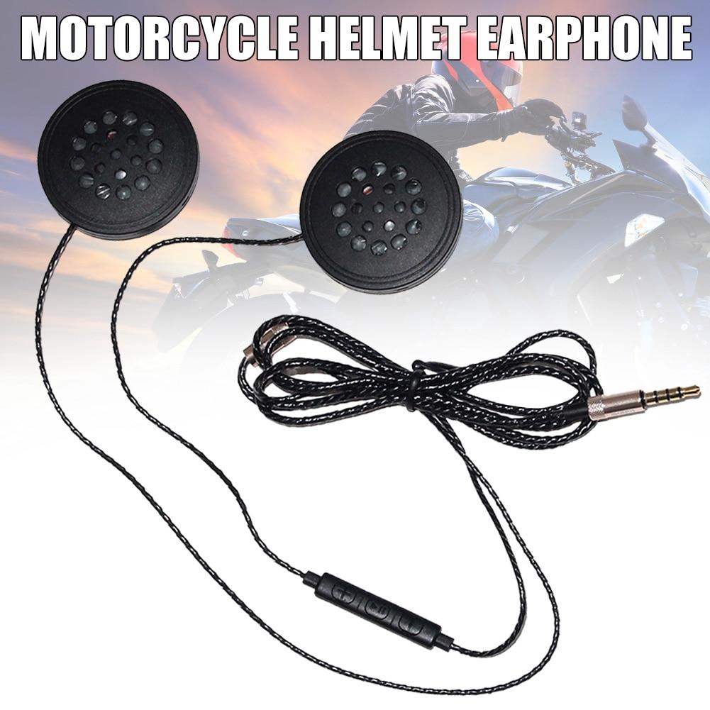 Wired Headphones Motorbike Intercom Helmet 3.5mm Music Headset Hands-Free with HD Microphone SP99