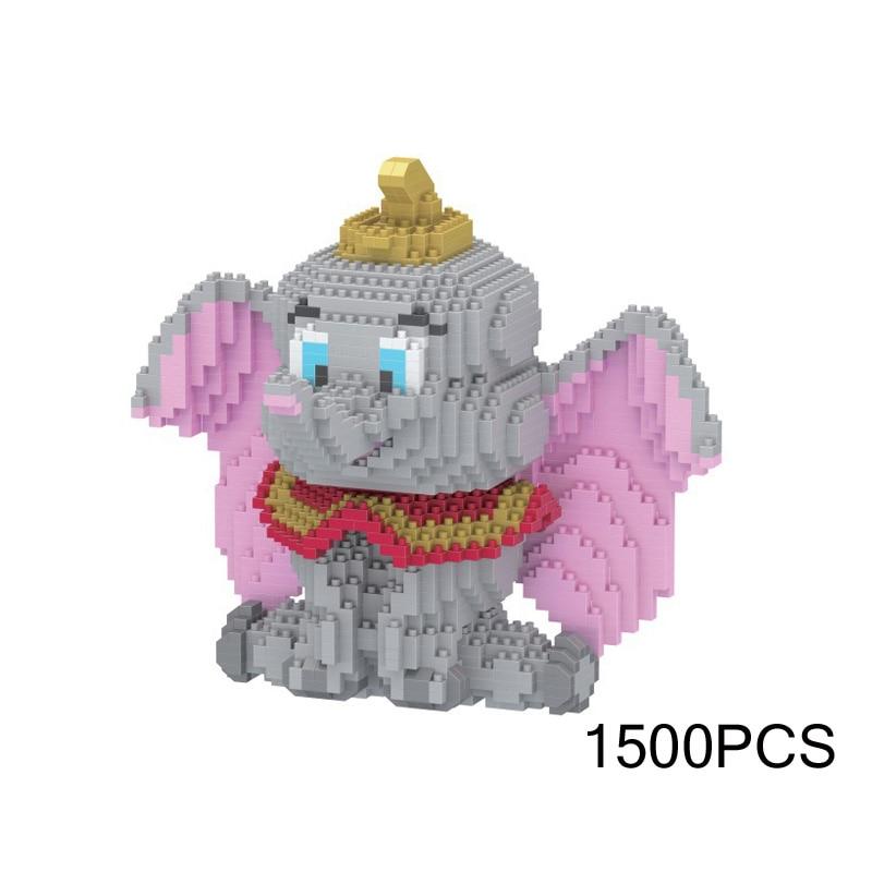 Lovely idea product animal nanobricks MOVIE building brick elephant Dumbo micro diamond block educational toys for kids gift