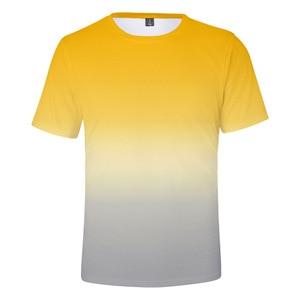 Fashion Casual Multicolor Gradient 3D Printed Men/Women T-shirts Short Sleeve Summer Round Neck Kid's Kpop Tshirt