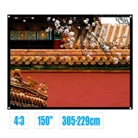 150inch 43 matte white fabric fiber glass simple projection screen for slides movies portable front projection hd screen