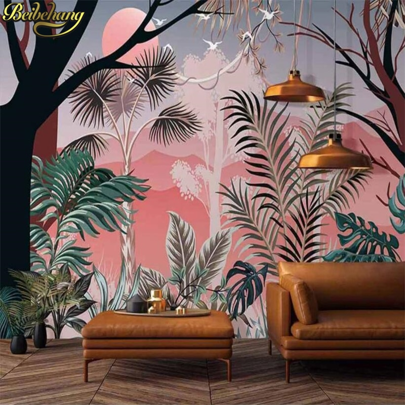 beibehang photo wallpapers for living room bedroom decoration Southeast Asian tropical mural wallpaper wall papers home decor недорого