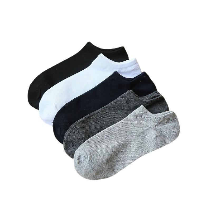 Мужские дизайнерские хлопковые Повседневные Дышащие Короткие носки-лодочки 5 цветов, высококачественные мужские носки для делового образа...