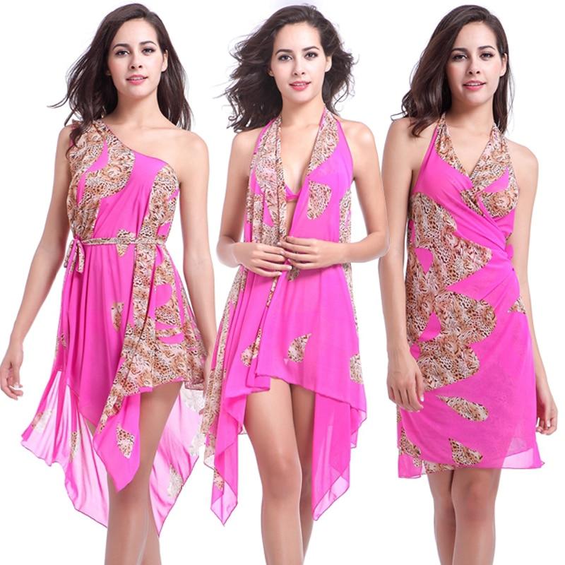 Ten in One Matches Bikini Transparent Beach Dress Wears Convertible Infinite Hot Spring Spa Swimsuit Dress Magic Mesh Cover Ups