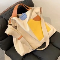2021new women high capacity canvas big shoulder crossbody bag fashion casual travel handbags and purses environmental protection