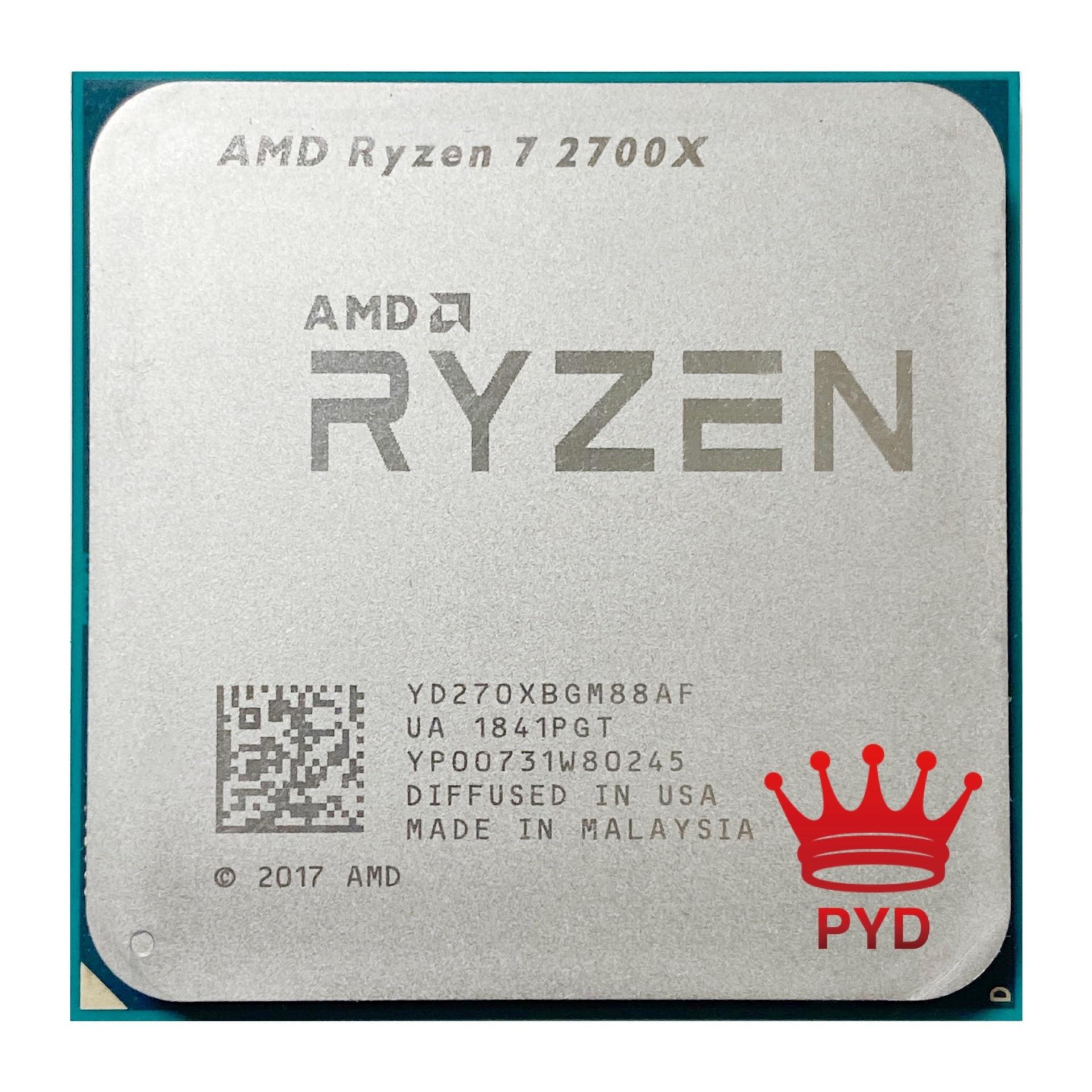 [해외] AMD-Ryzen 7 CPU 프로세서 2700X R7 2700X 3.7GHz 에잇 코어 식스틴 스레드 16M 105W 소켓 AM4, YD270XBGM88AF