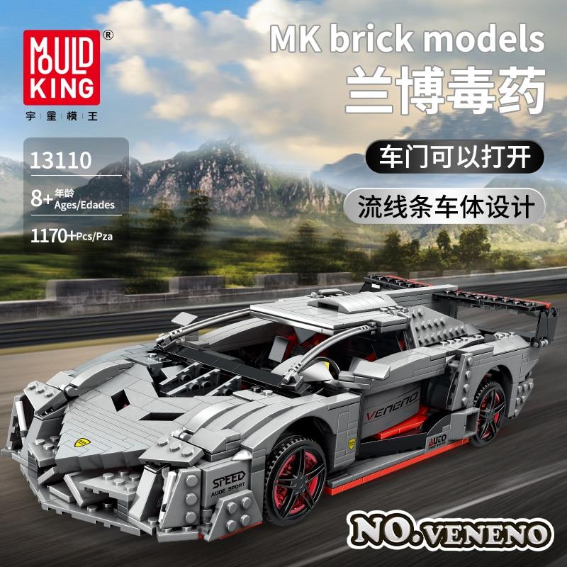 MOC creativo técnica serie veneno Lamborghinis supercar modelo de potencia Kit de Lepining bloques de construcción ladrillos juguetes de los niños