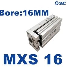 MXS MXS16 NOUVEAU SMC MXS16-10 MXS16-20 MXS16-30 MXS16-40 MXS16-50 MXS16L-75 Glissière Table Vérin de Guidage MXS16-100 MXS16-125