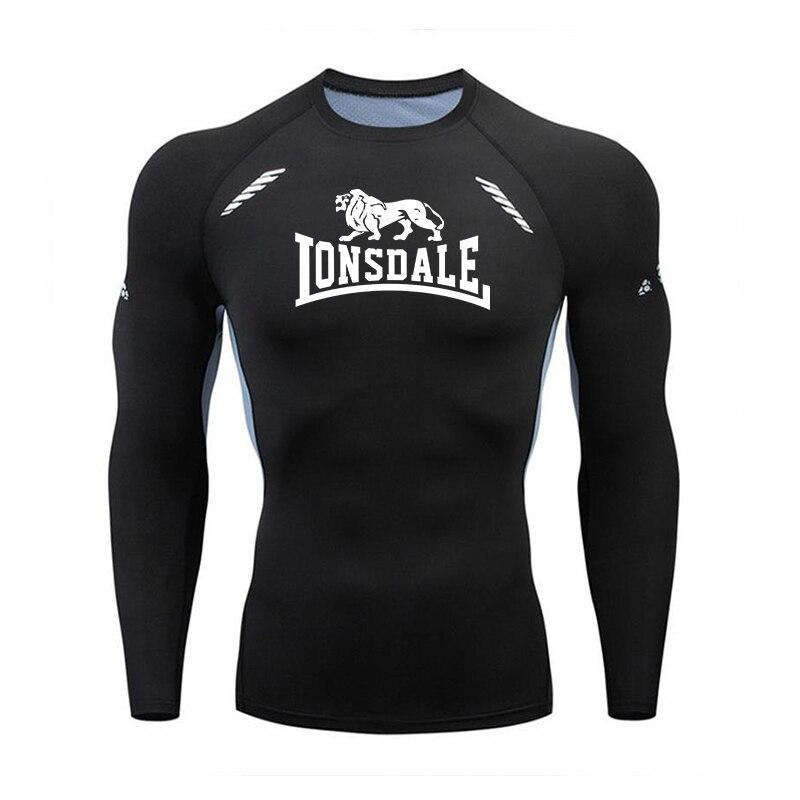 Camiseta de compresión de secado rápido para gimnasio y correr, camiseta de manga larga para hombre, Camiseta deportiva para culturismo, camiseta de gimnasio para hombre