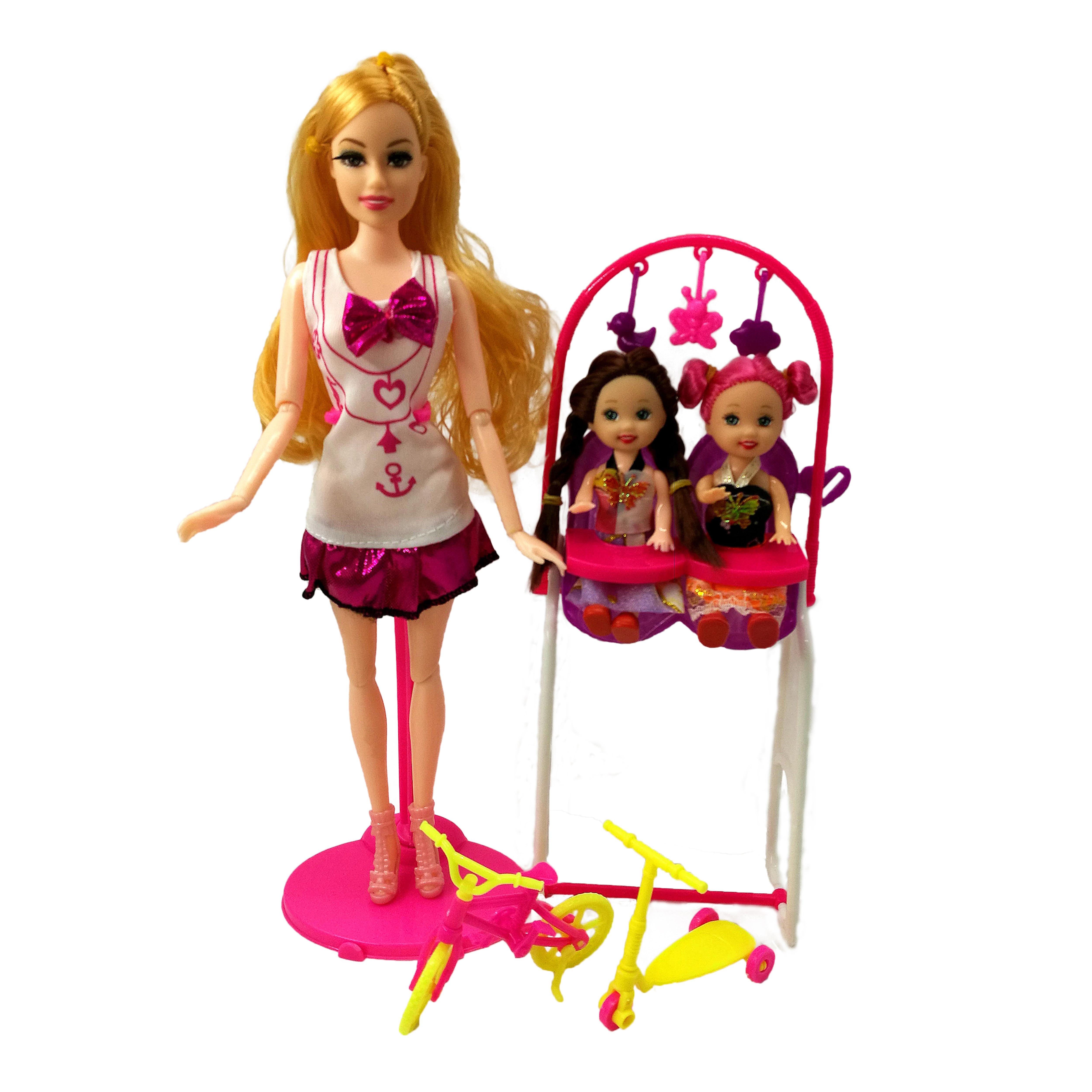 Muñeca de juguete de moda para niños, juguetes para jugar a las...