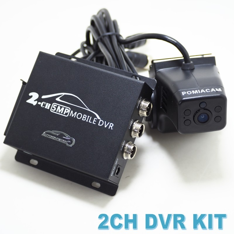 2CH DVR KIT 1080P Video Recorder with 1080P AHD camera 2CH CCTV system vehicle DVR with remote control Security Camera for network car ,taxi ,school bus , logistics car by rear view driver face plug and play Uber tax