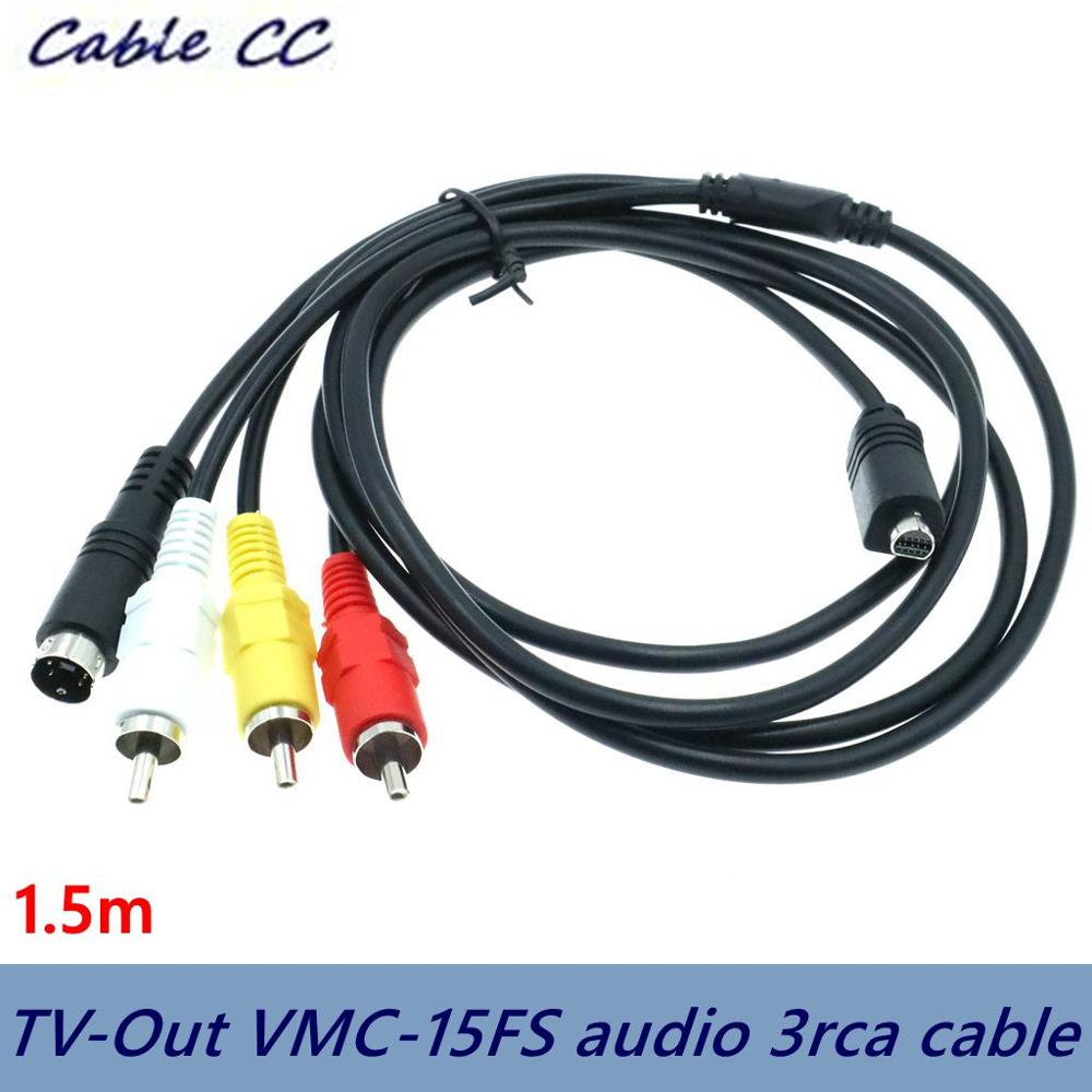 Compatible AV TV-Out VMC-15FS 3RCA audio video cable for the best quality of portable HandyCam