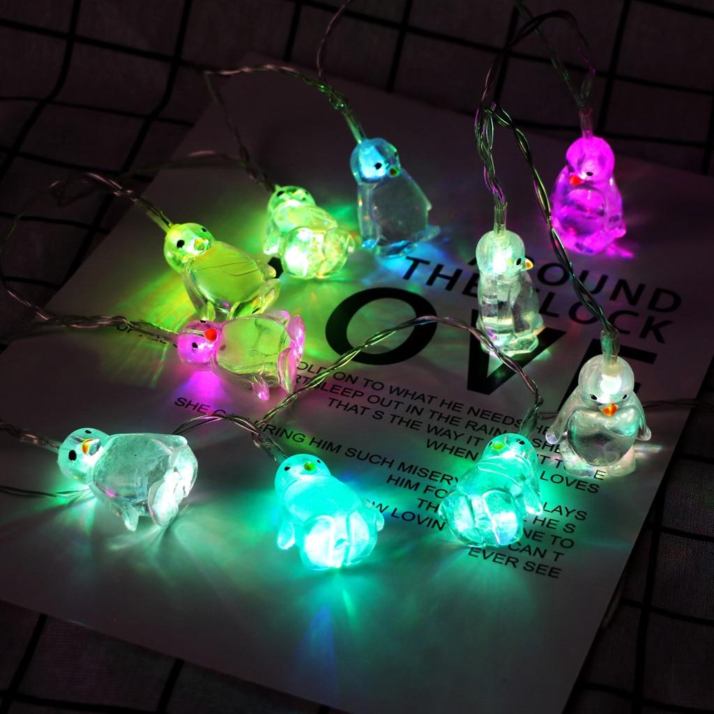10 LED 1.65M Penguin Animal Shape String Lights christmas tree ornaments String light New Years home decor String light Navidad